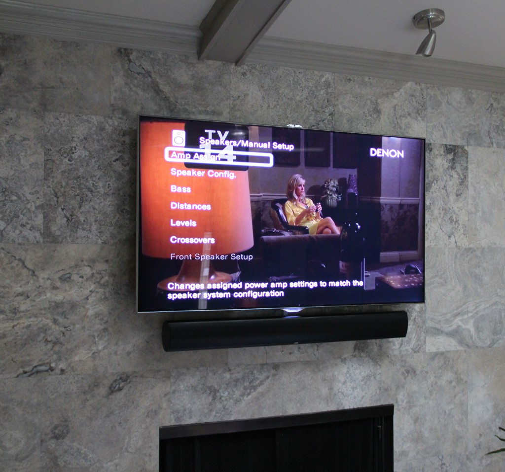 Marble Fireplace TV Installation Dallas, TX