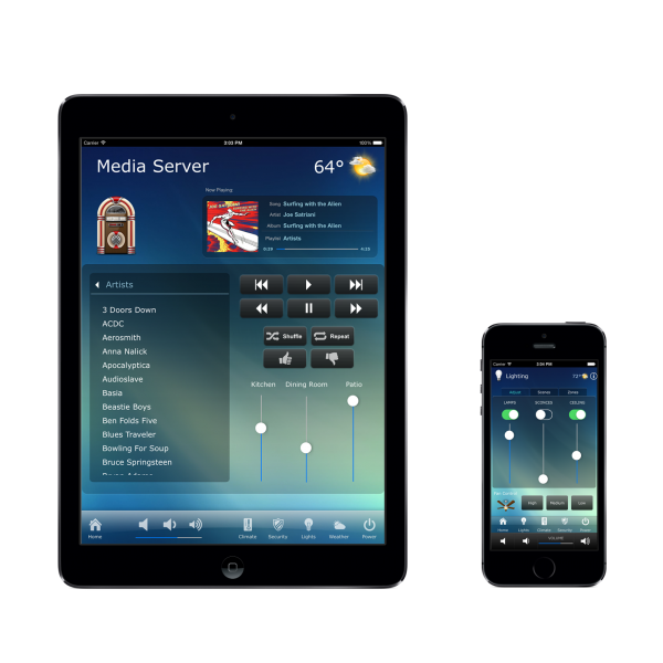 RTiPanel App Controller in Dallas, TX for iPad, iPhone, and Android Smart Phones