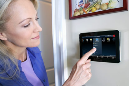 URC in-wall touchpanel controller for home automation in Dallas, TX